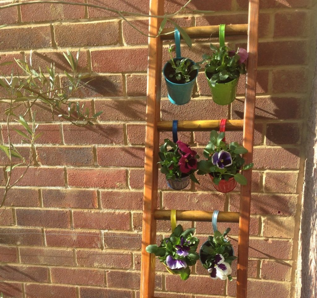 Things To Do In A Weekend Upcycle An Old Ladder The Small Gardener